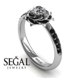 Small Of Black Diamond Engagement Rings