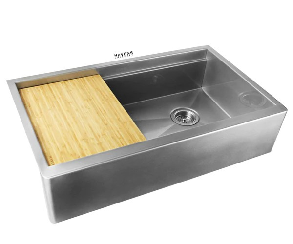 Legacy Farmhouse Sink Luxe Stainless Havens Metal