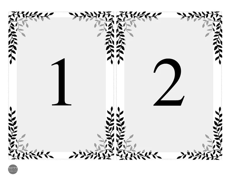 table numbers template - Onwebioinnovate - number template