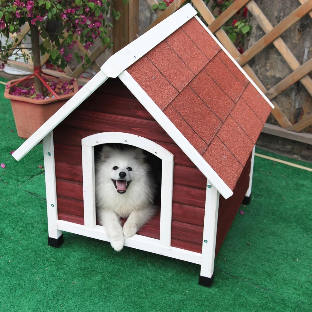 Dog House Petsfit Wood Dog House Red