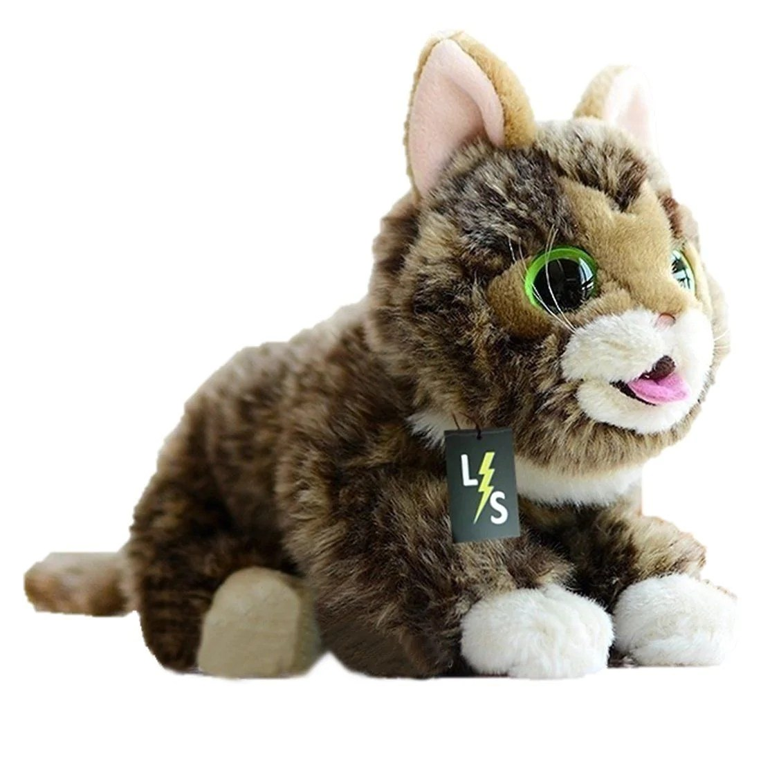 Cat Plush Toy Lightningstore Adorable Cute Big Eyes Cat Lynx Doll Realistic Looking Stuffed Animal Plush Toys Plushie Children S Gifts Animals