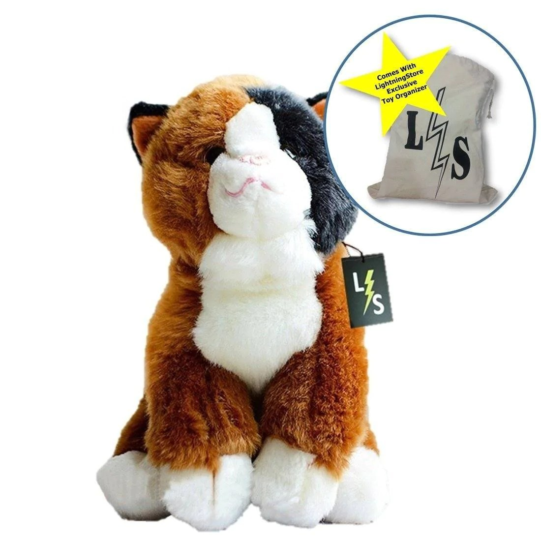Cat Plush Toy Lightningstore Adorable Cute Brown Exotic Shorthair Cat Kitten Stuffed Animal Doll Realistic Looking Plush Toys Plushie Children S Gifts Animals Toy