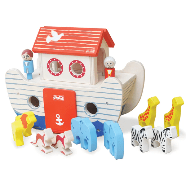 Noah S Ark Wooden Toy Christening Gift With Peg People