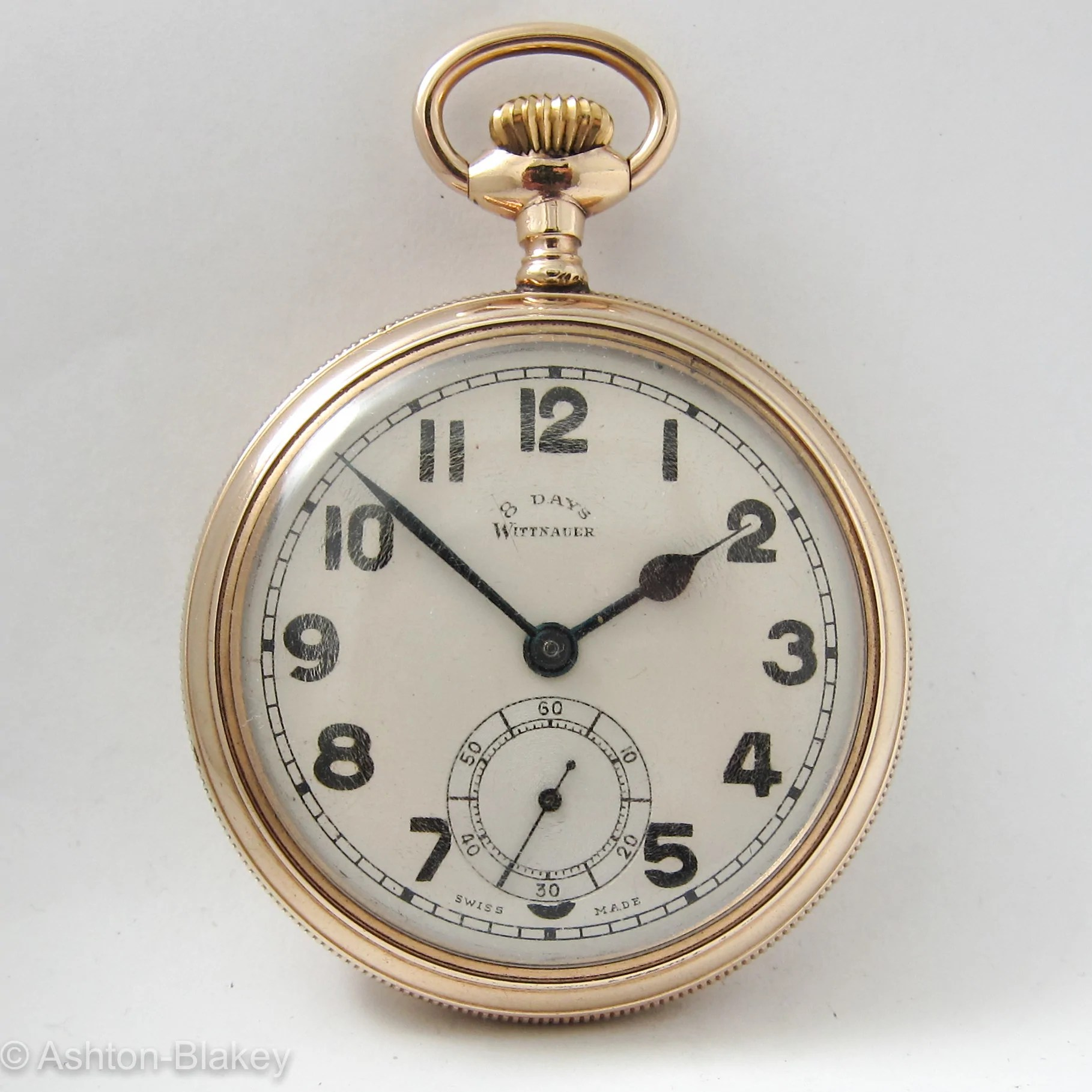 Vintage 8 Wittnauer Men S Vintage 8 Day Pocket Watch