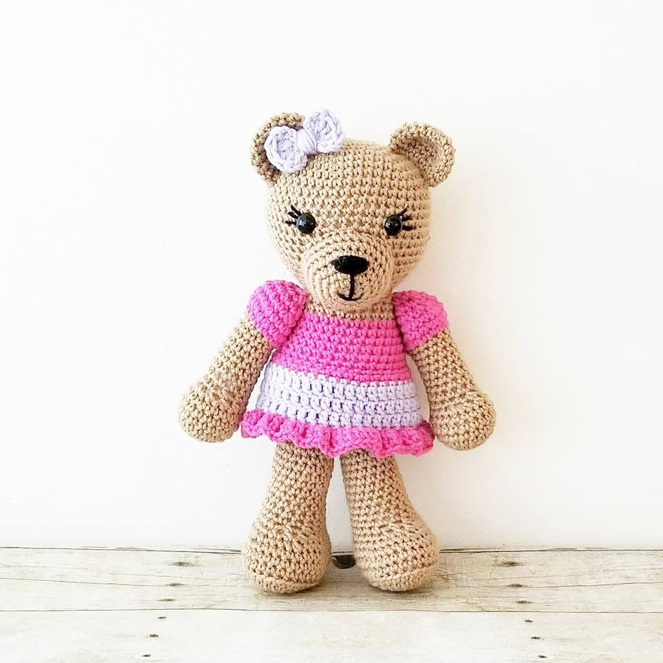 Baby Newborn Teddy Crochet Teddy Bear Stuffed Animal Doll Toy Infant Newborn Baby Toddler Child Handmade Photography Photo Prop Baby Shower Gift Present