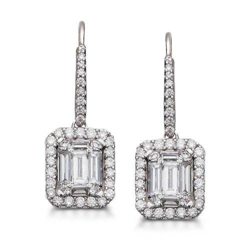 Genuine Teens G Earrings Amazon Diamond Halo Drop Earrings G Diamond Halo Drop Earrings G Little G Earrings