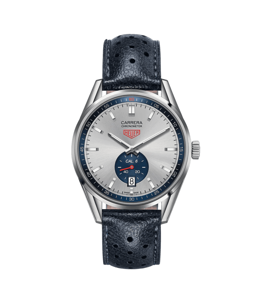 Cariera' Tag Heuer Carrera 39mm Watch With Silver Dial