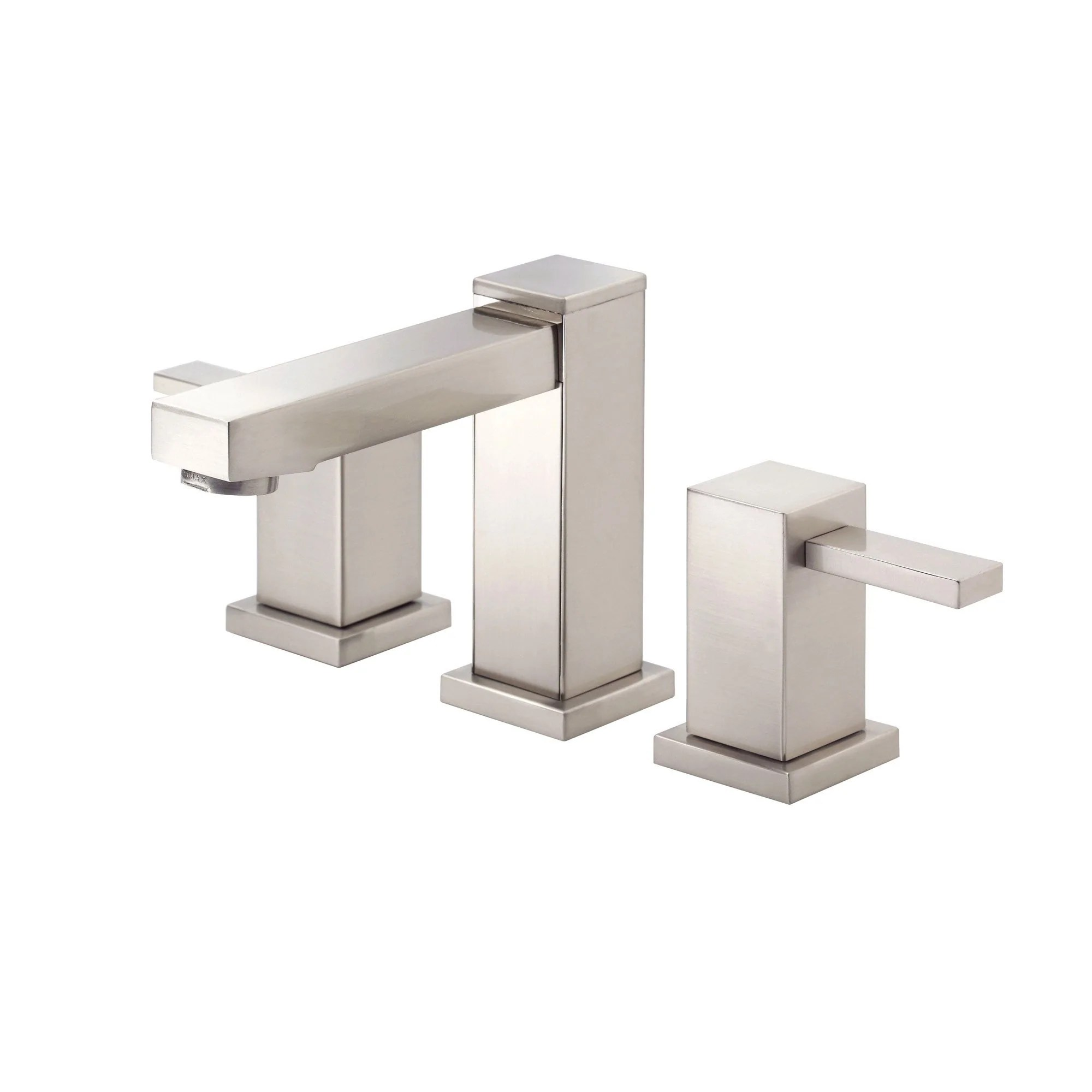 Danze Reef Brushed Nickel Modern Square 2 Handle Widespread Bathroom Sink Faucet danze kitchen faucets Danze Reef Brushed Nickel Modern Square 2 Handle Widespread Bathroom Sink Faucet