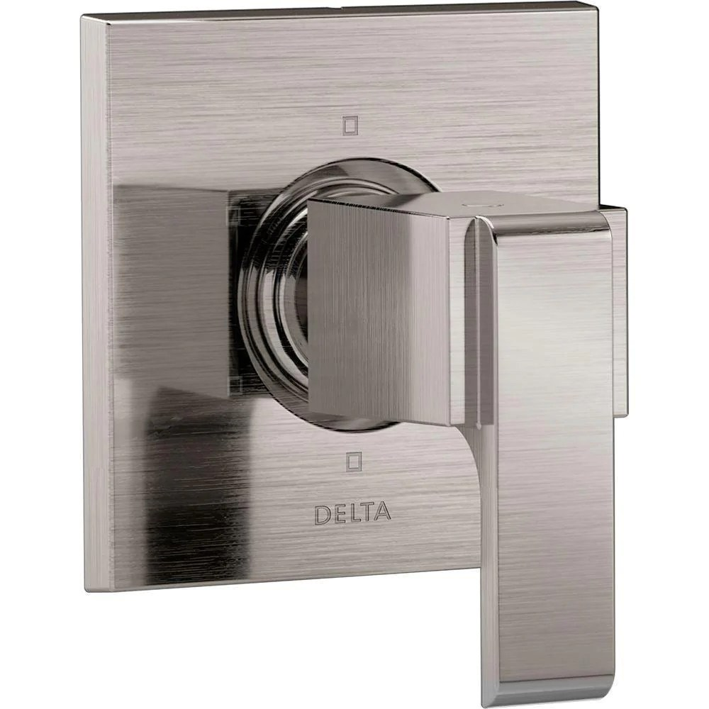 Delta Shower Diverter Delta Ara 1 Handle 6 Setting Custom Shower Diverter Valve Trim Kit In Stainless Steel Finish Valve Not Included 669939