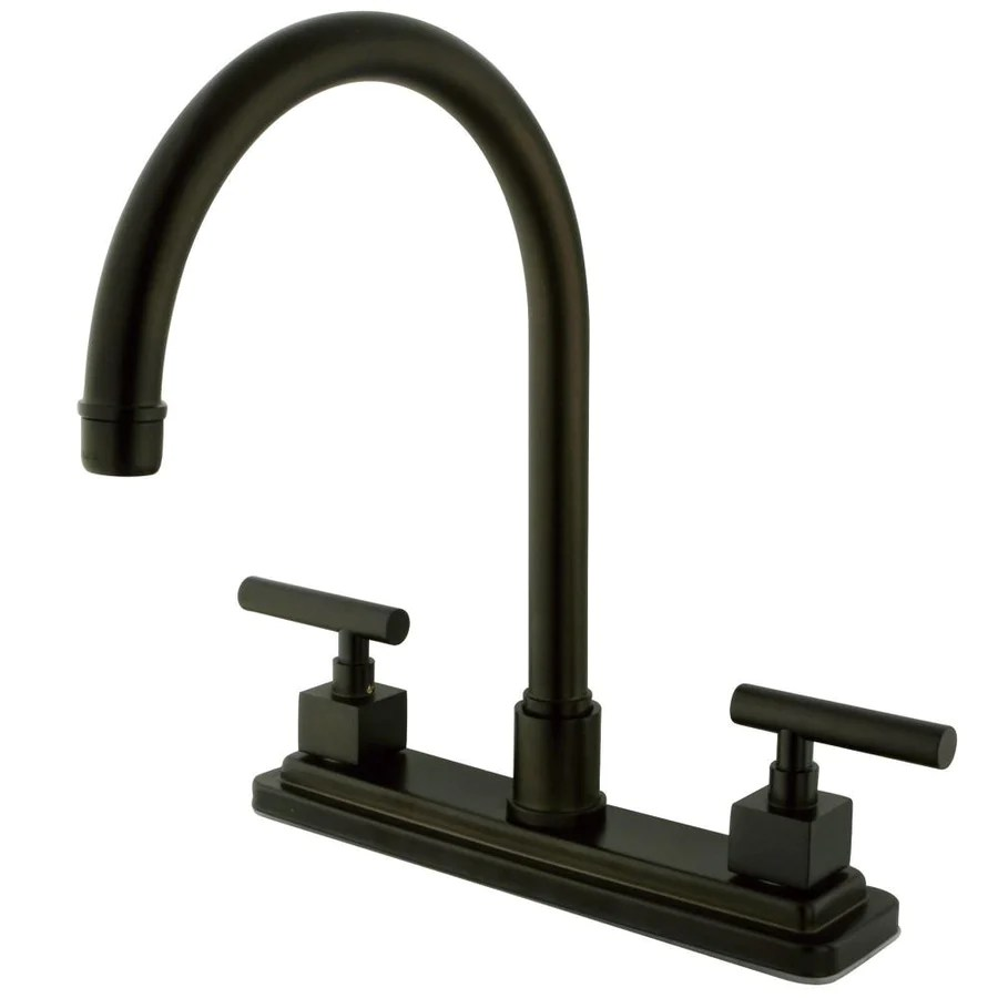 bronze kitchen faucet bronze Kingston Brass Claremont Oil Rubbed Bronze 2 hdl 8 Kitchen Faucet KSCQLLS