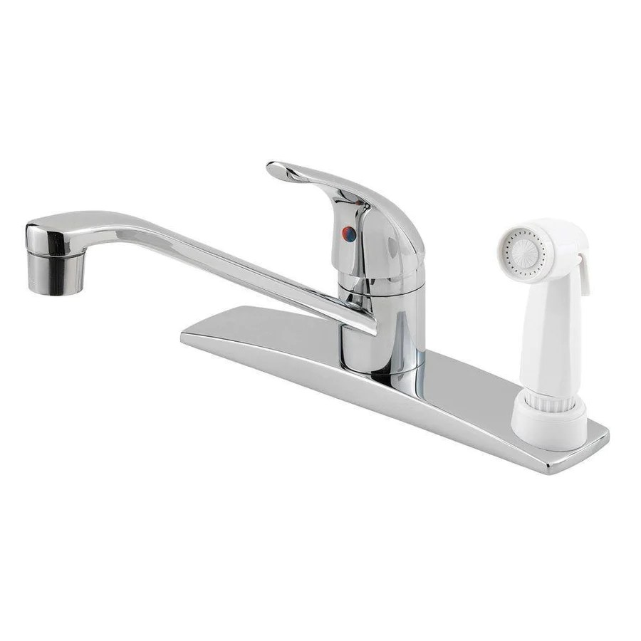 price pfister pfister kitchen faucets Price Pfister Pfirst Series Single Handle Side Sprayer Kitchen Faucet in Polished Chrome