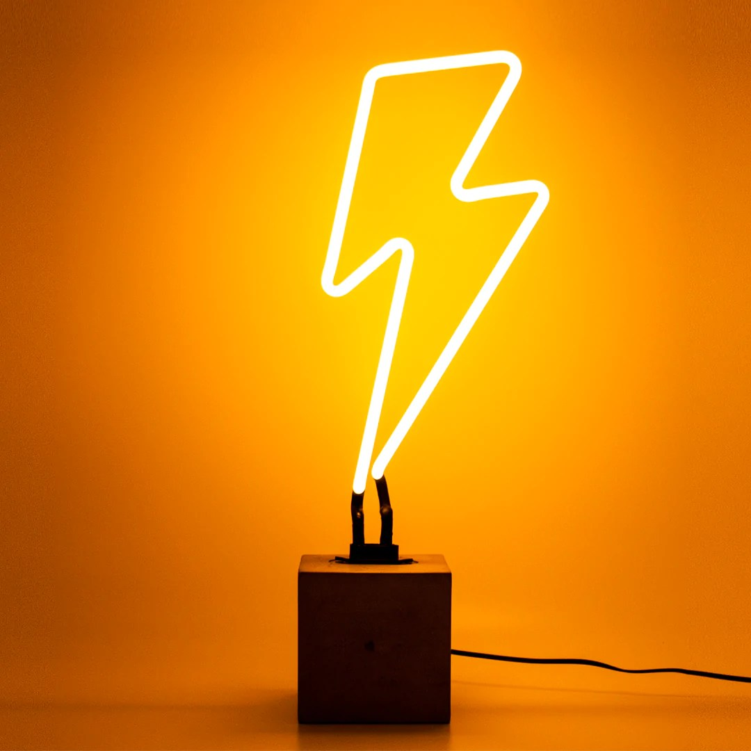Neon Lamp Lightning Bolt Neon Lamp