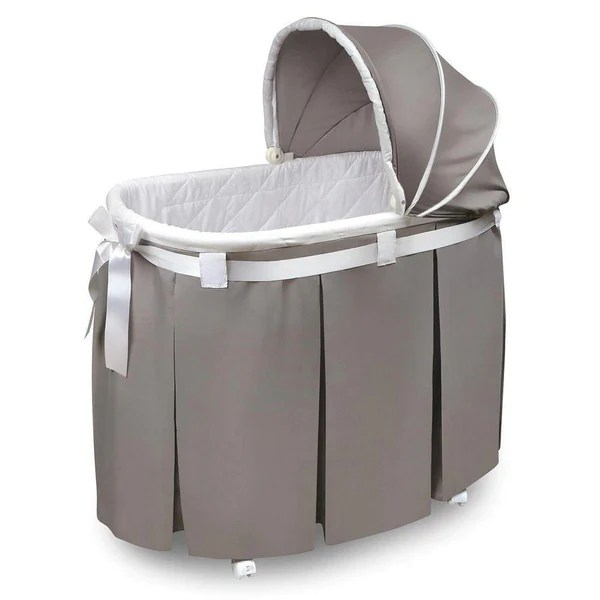 Stroller Bassinet For Sale Badger Basket Wishes Oval Baby Bassinet Gray