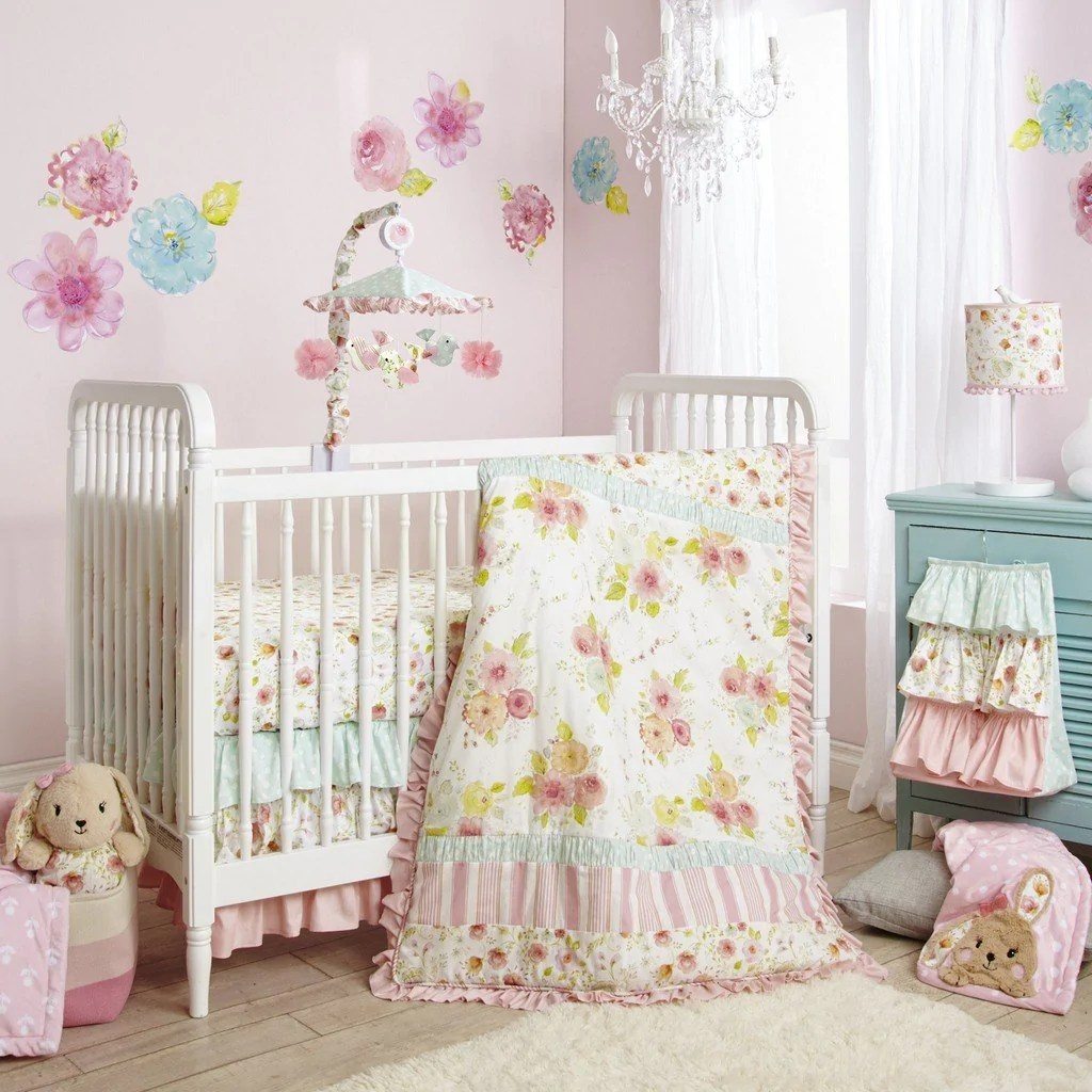Full Crib Bedding Sets Lambs And Ivy Sweet Spring 4 Piece Crib Bedding Set
