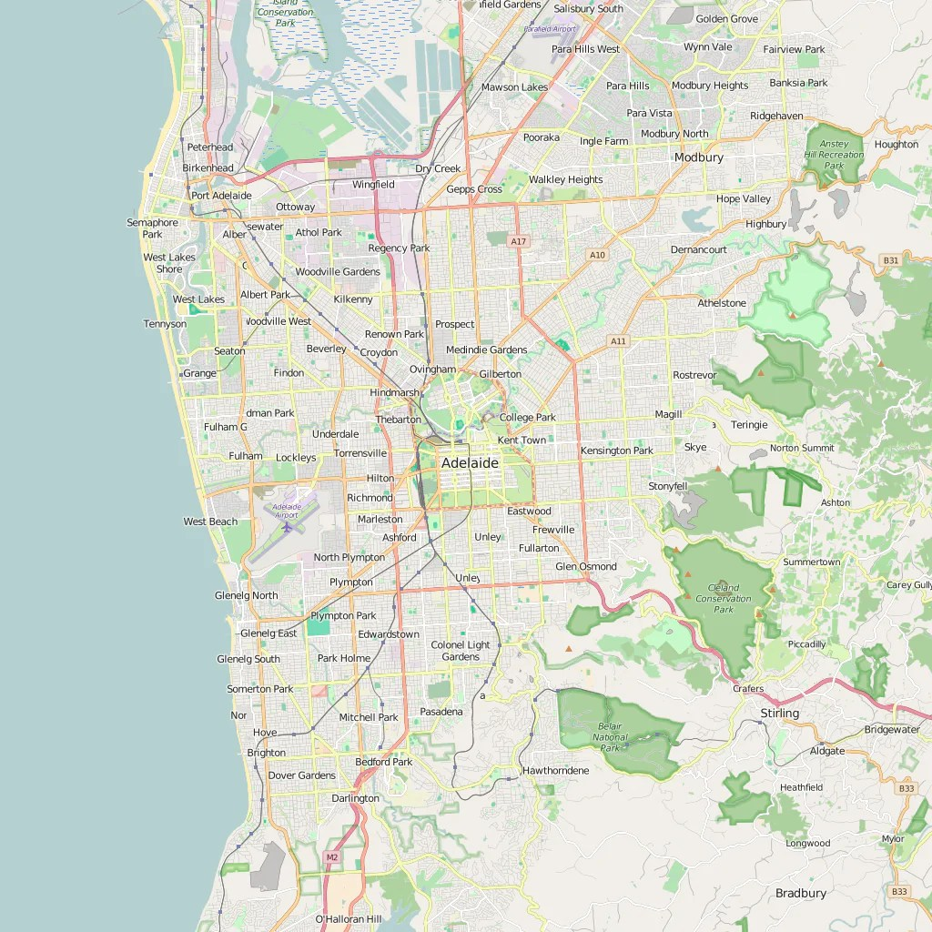 Map Shop Adelaide Editable City Map Of Adelaide Map Illustrators