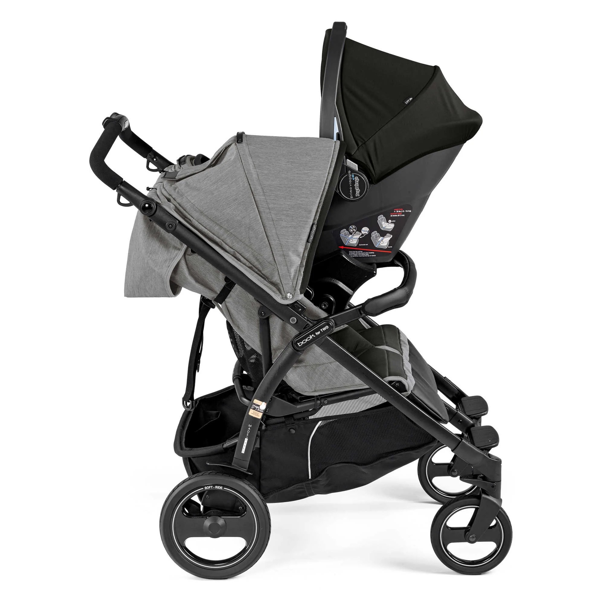Peg Perego Stroller For Twins Peg Perego Book For Two Double Stroller