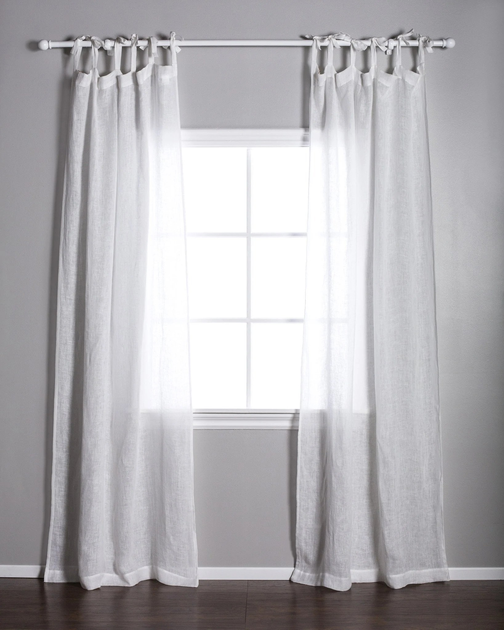 Black Voile Curtains White Linen Voile Curtains