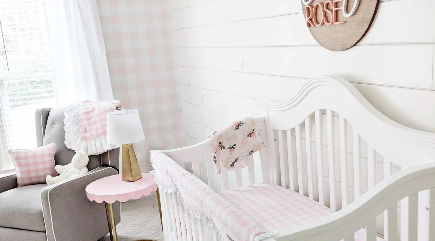 Baby Car Seat On Clearance The Sweetest Pink Gingham Baby Girl Nursery Caden Lane