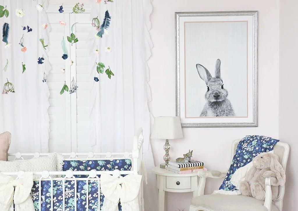 Emery39s Soft Blush Blue Bunny Nursery Caden Lane