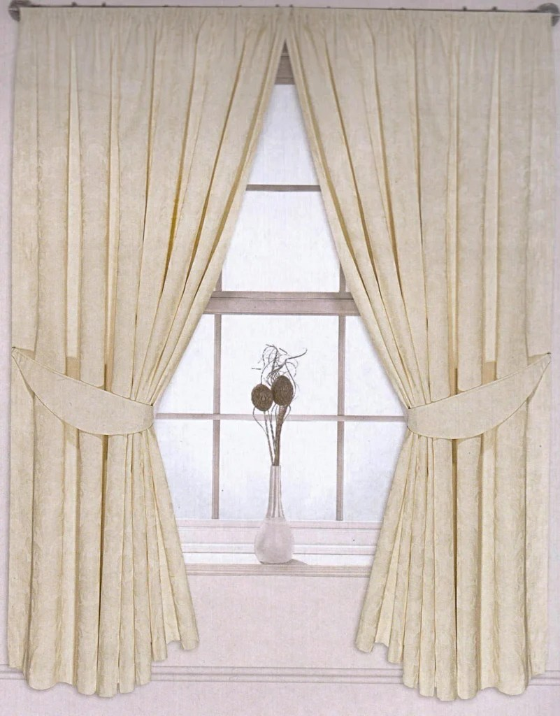 Jacquard Curtains Jacquard Curtain Pair Pencil Pleated Floral Design Fully Lined 7 Sizes 2 Colours