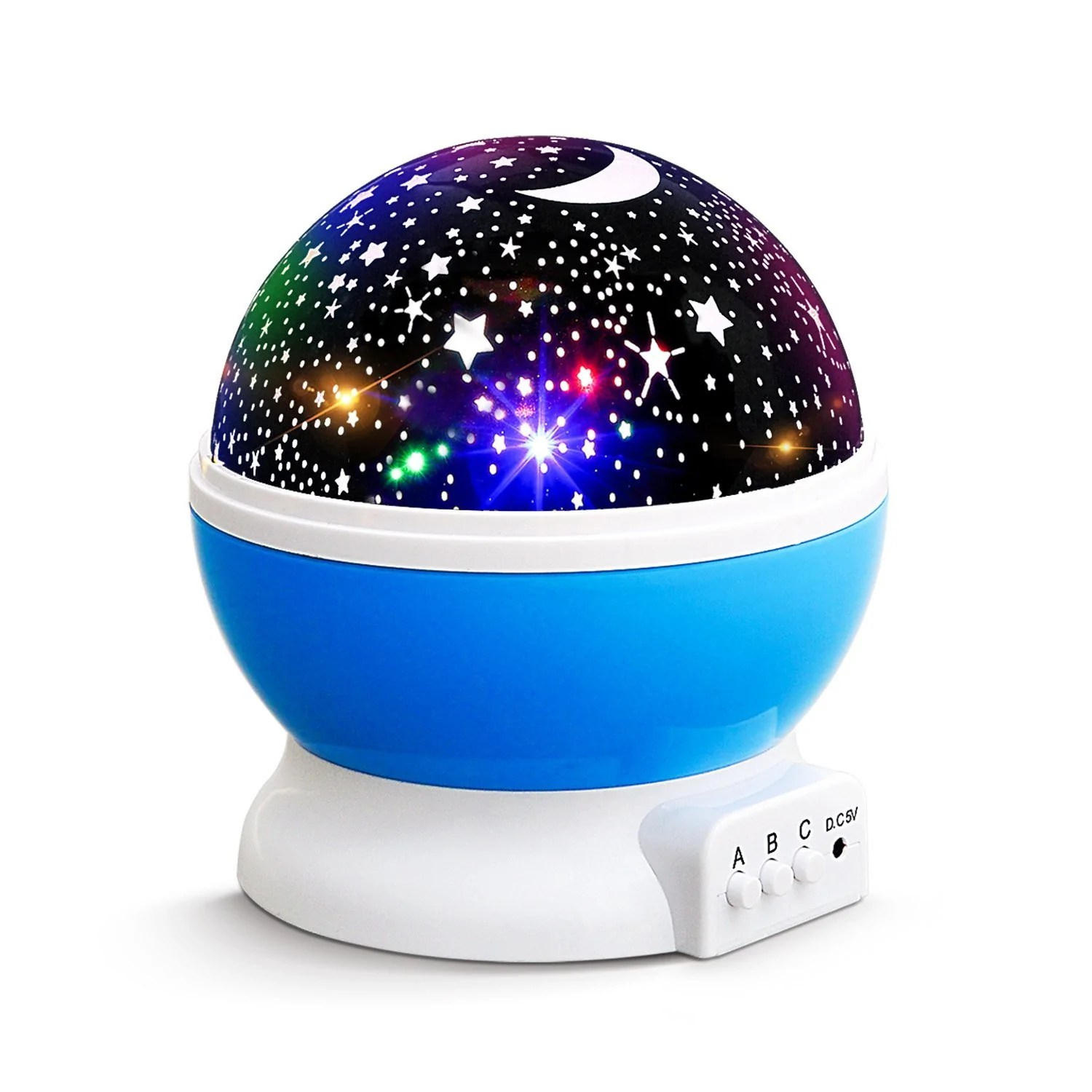 Light Projector New Generation Baby Night Lights For Kids Starry Night Light Rotating Moon Stars Projector 9 Color Options Romantic Night Lighting Lamp Usb Cable