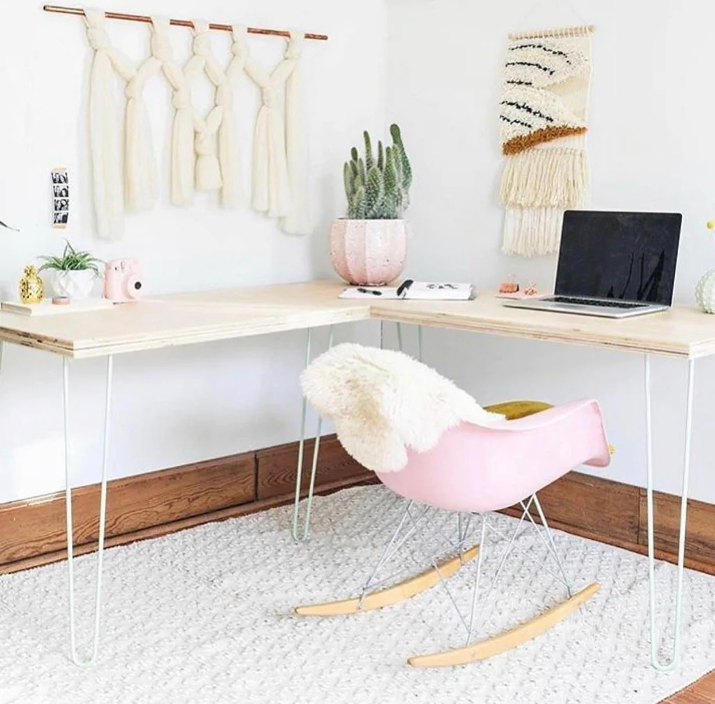 Ideas Inspiration Hairpin Leg Desks Made With Diyhairpinlegs Diy Hairpin Legs