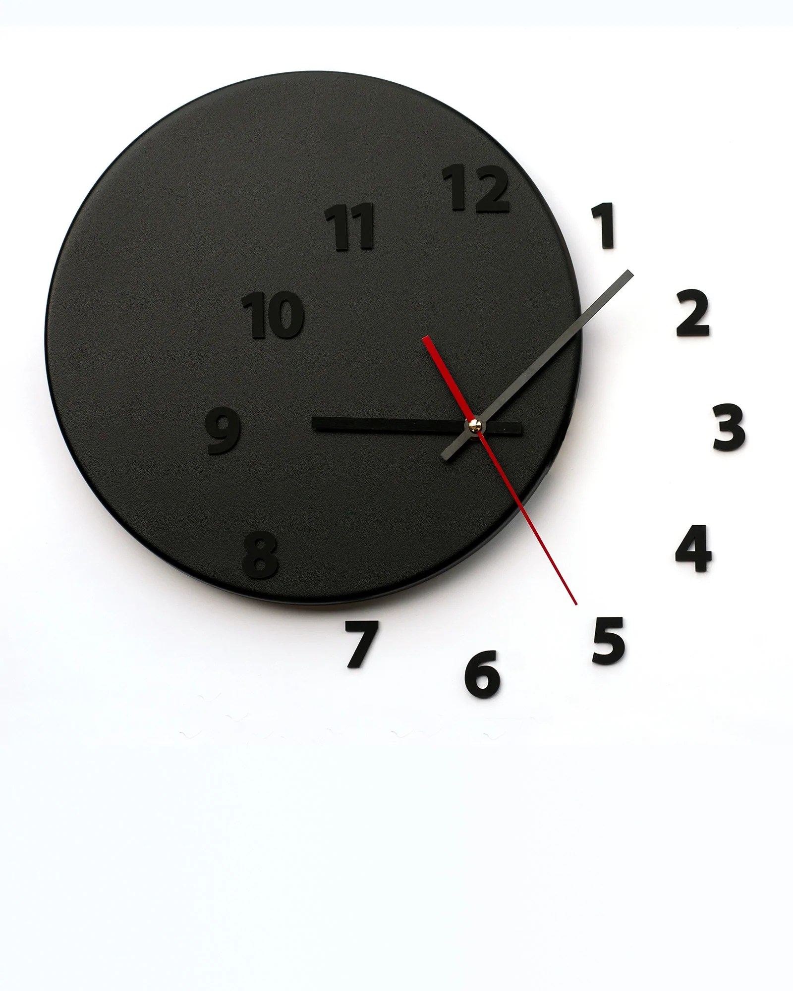 Wall Clock Design Wall Clock Out Of Time Black Black