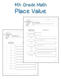 4th Grade  4th Grade Place Value Worksheets - Printable ...