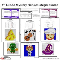 Math Mystery Picture Worksheets - multiplication coloring ...