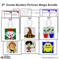 All Worksheets  Math Mystery Picture Worksheets ...