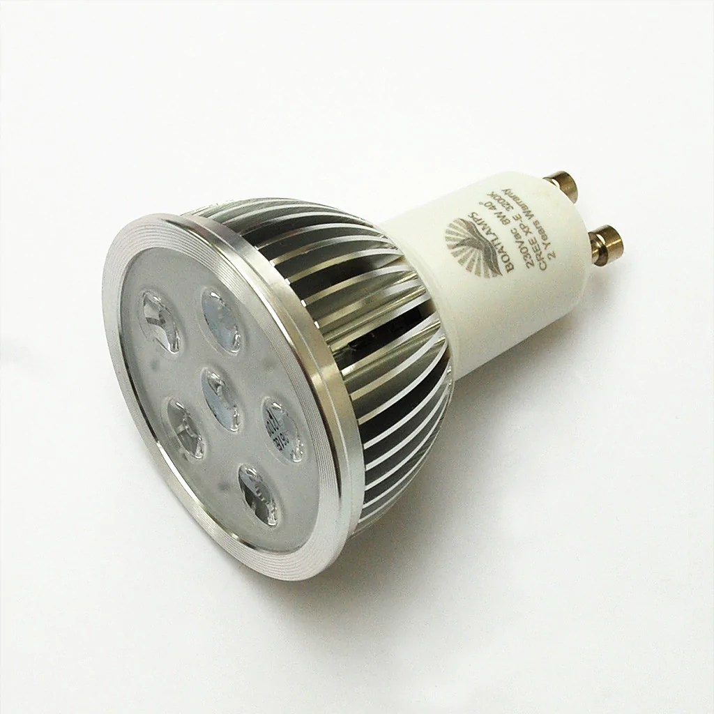 Halogenlampe Led Gu10 6w Cree Led Lamp 50w Halogen Replacement 230v 40 Deg