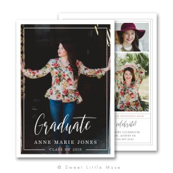 Small Of Graduation Announcement Template