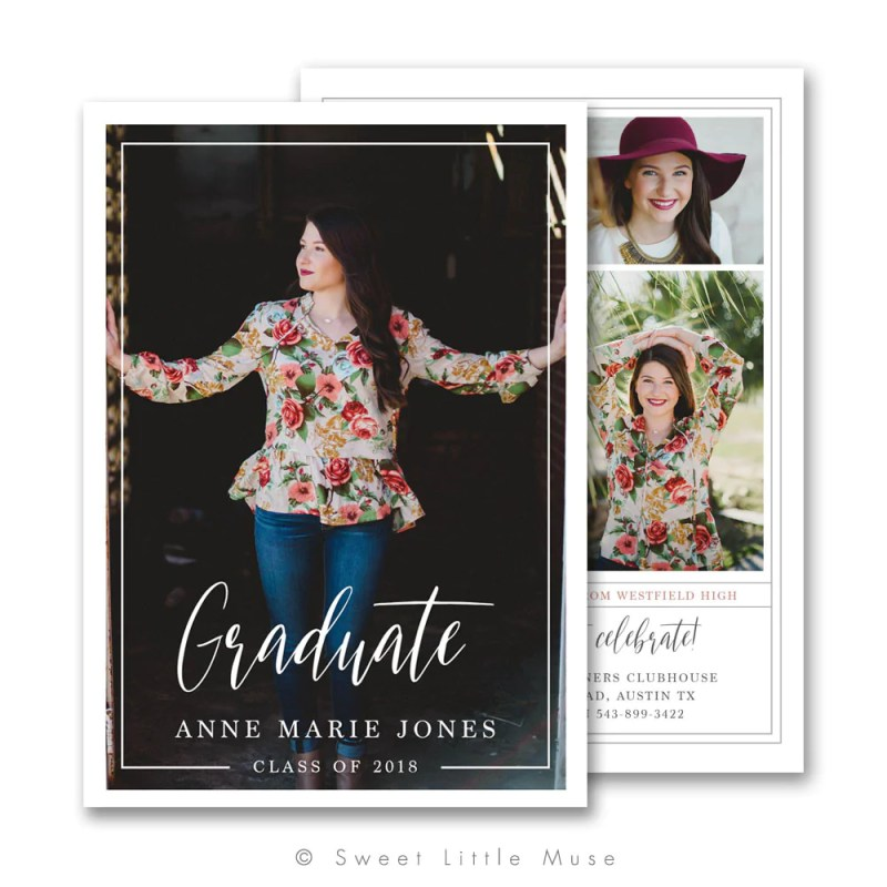 Large Of Graduation Announcement Template