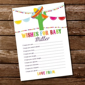 Howling Baby Card Sunshine Parties Baby Shower Wishes On Card Baby Shower Wishes Baby Card Mexican Fiesta Baby Shower Wishes Coworker Mexican Fiesta Baby Shower Wishes