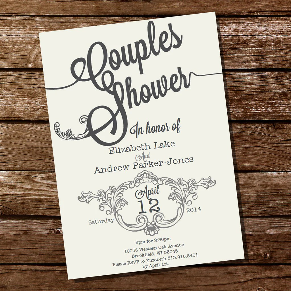 Incredible How It Works Vintage Couples Shower Invitation Sunshine Parties Printable Couples Shower Invitations Shutterfly Couples Shower Invitations wedding invitation Couples Shower Invitations