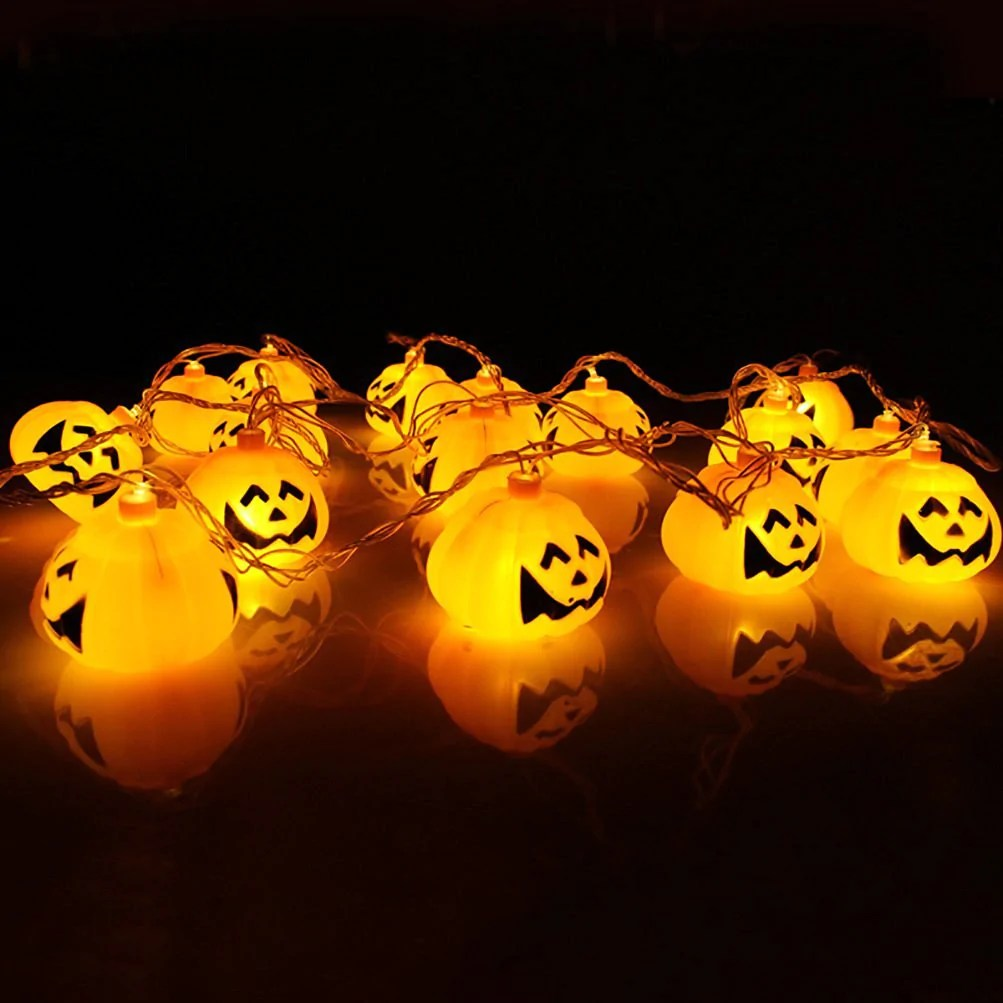 Led Halloween Lights Mini Pumpkin Led String Lights For Halloween Decoration Party Bar