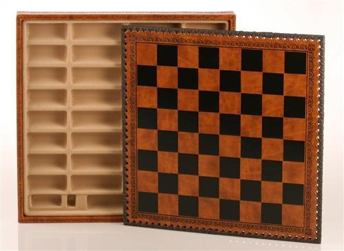 14quot Leatherette Cabinet Chess Storage Board Chess House
