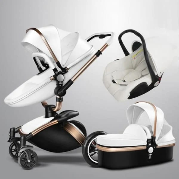 Stroller With The Bassinet Baby Stroller 3 In 1 With Car Seat High View Pram For