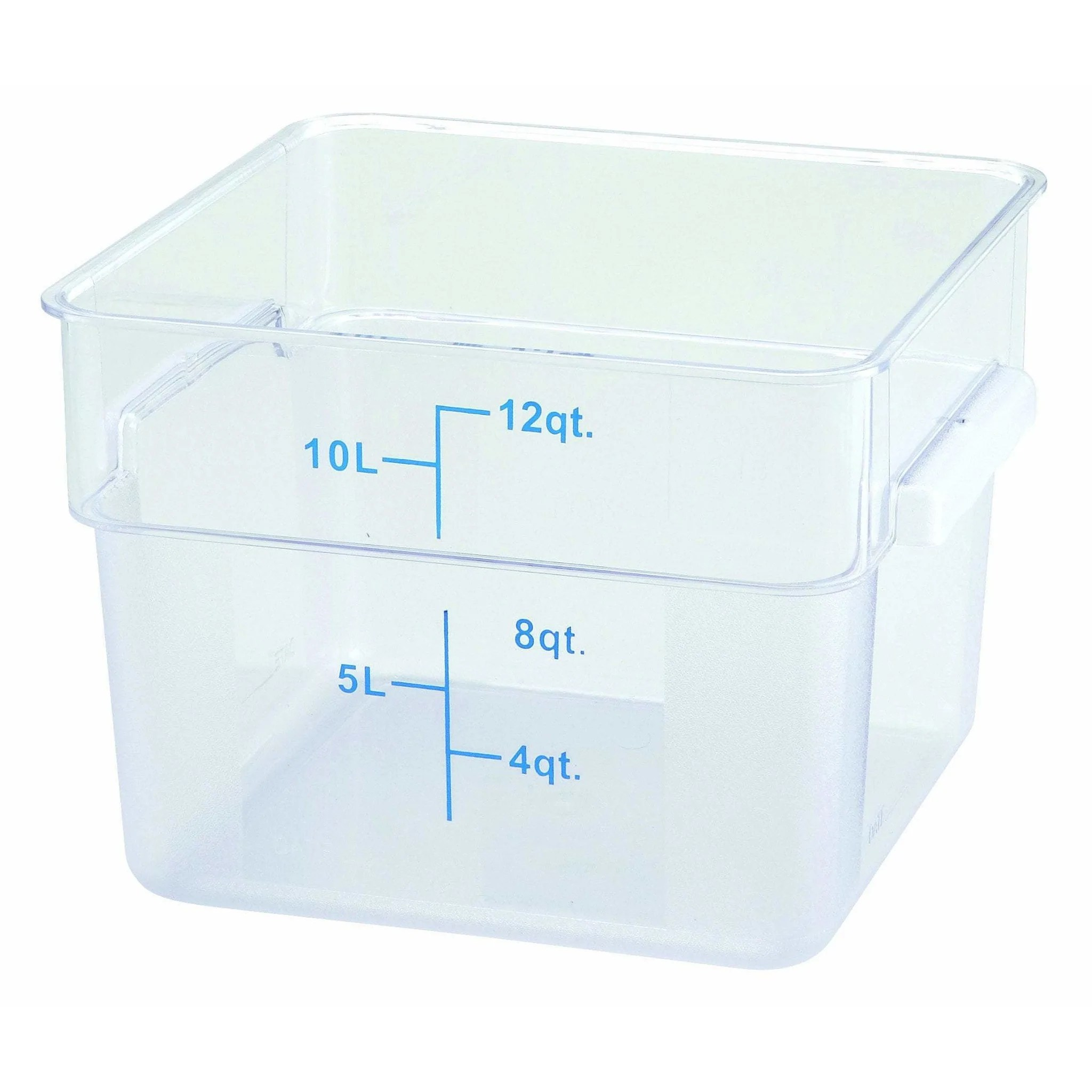 Winco Pcsc 12c 12qt Square Storage Container Clear Pc Food Storage Maltese Co