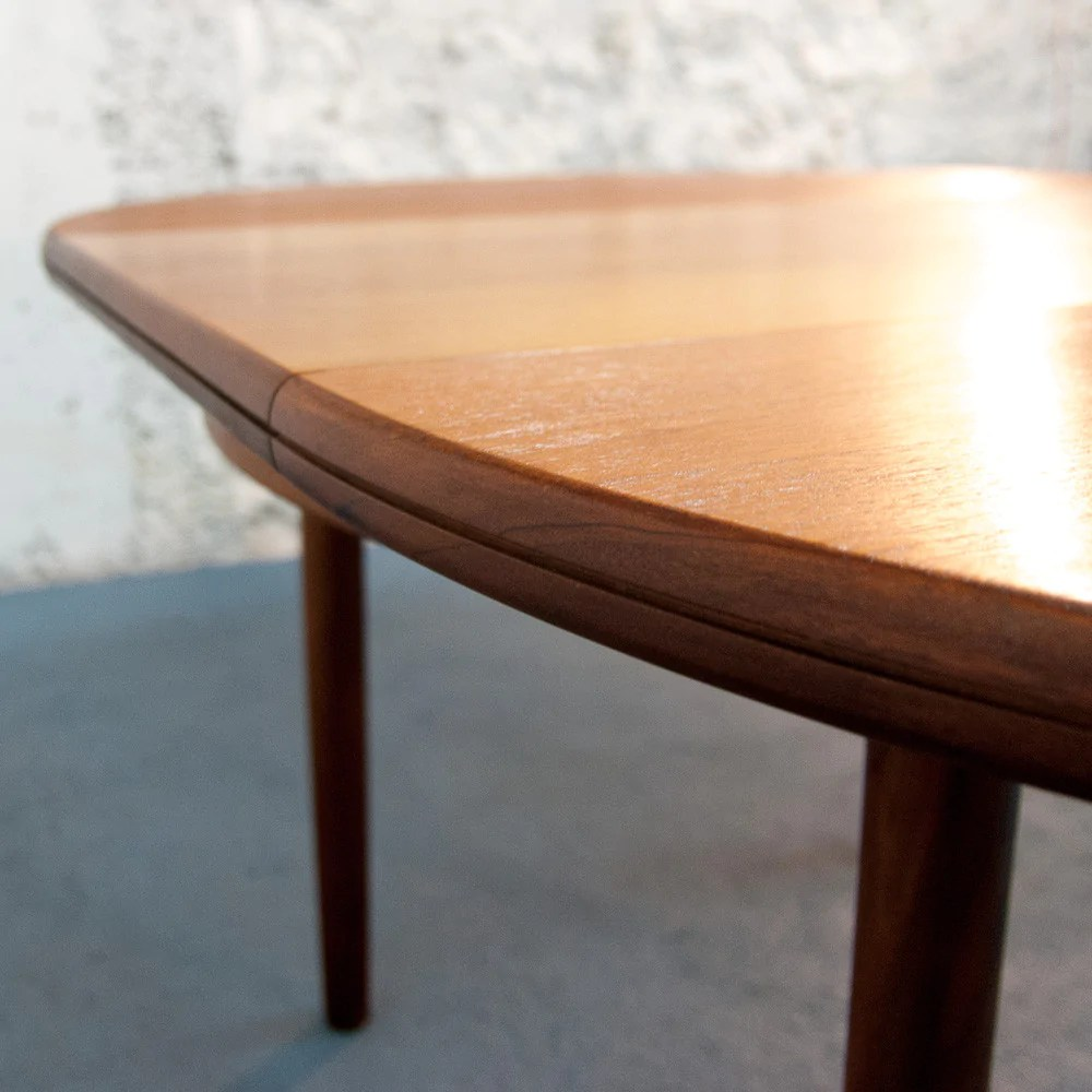 Table Ronde Scandinave Rallonge Table Ronde Scandinave à Rallonges Vintage