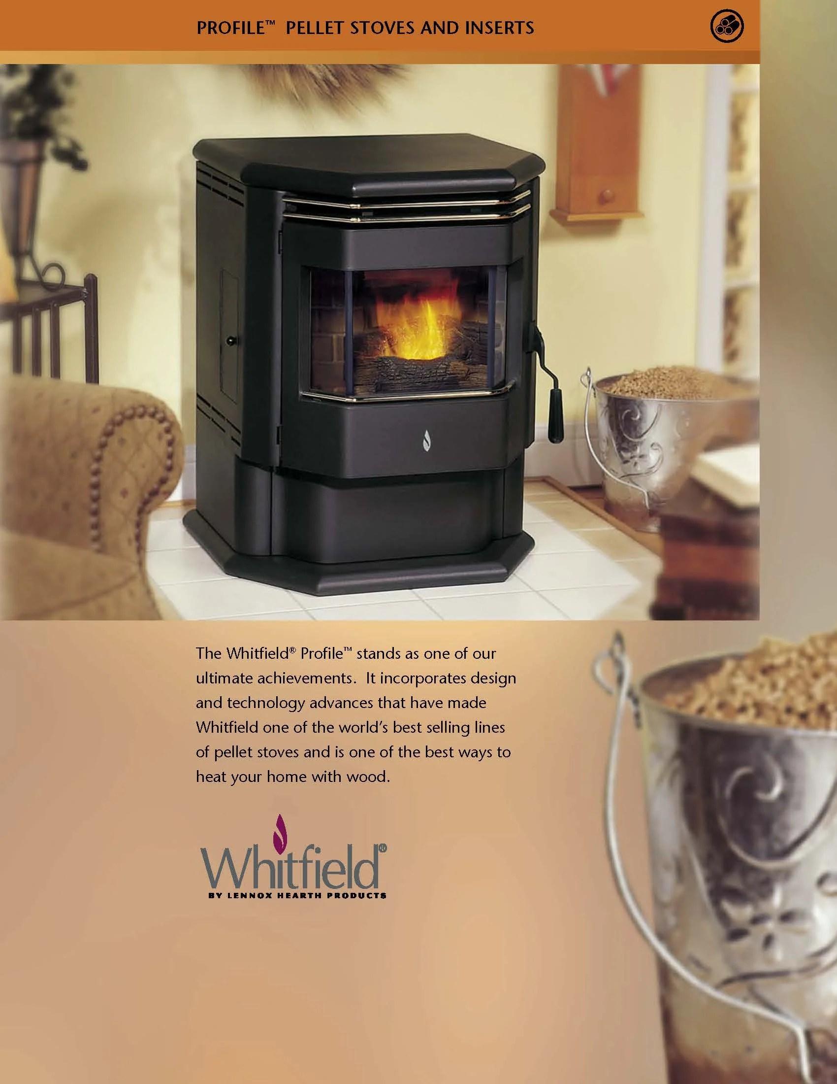 Whitfield Profile 20 30 Pellet Stove Brochure