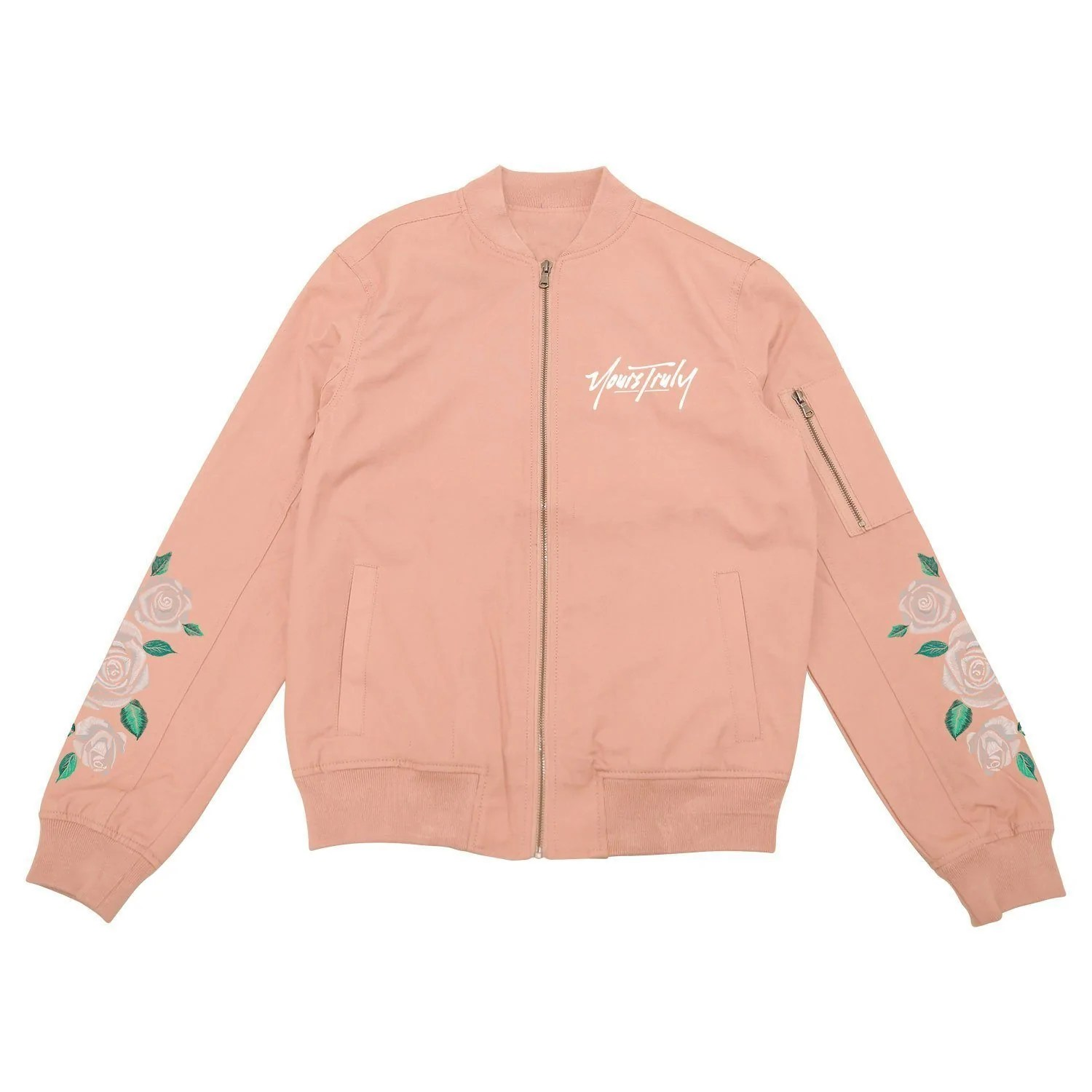 Scenic Jackets Yours Truly Forever Bomber Jacket Pink Yours Truly Forever Bomber Jacket Pink Yourstrulyco Yours Or Yours Your Or Yourself inspiration Yours Or Yours