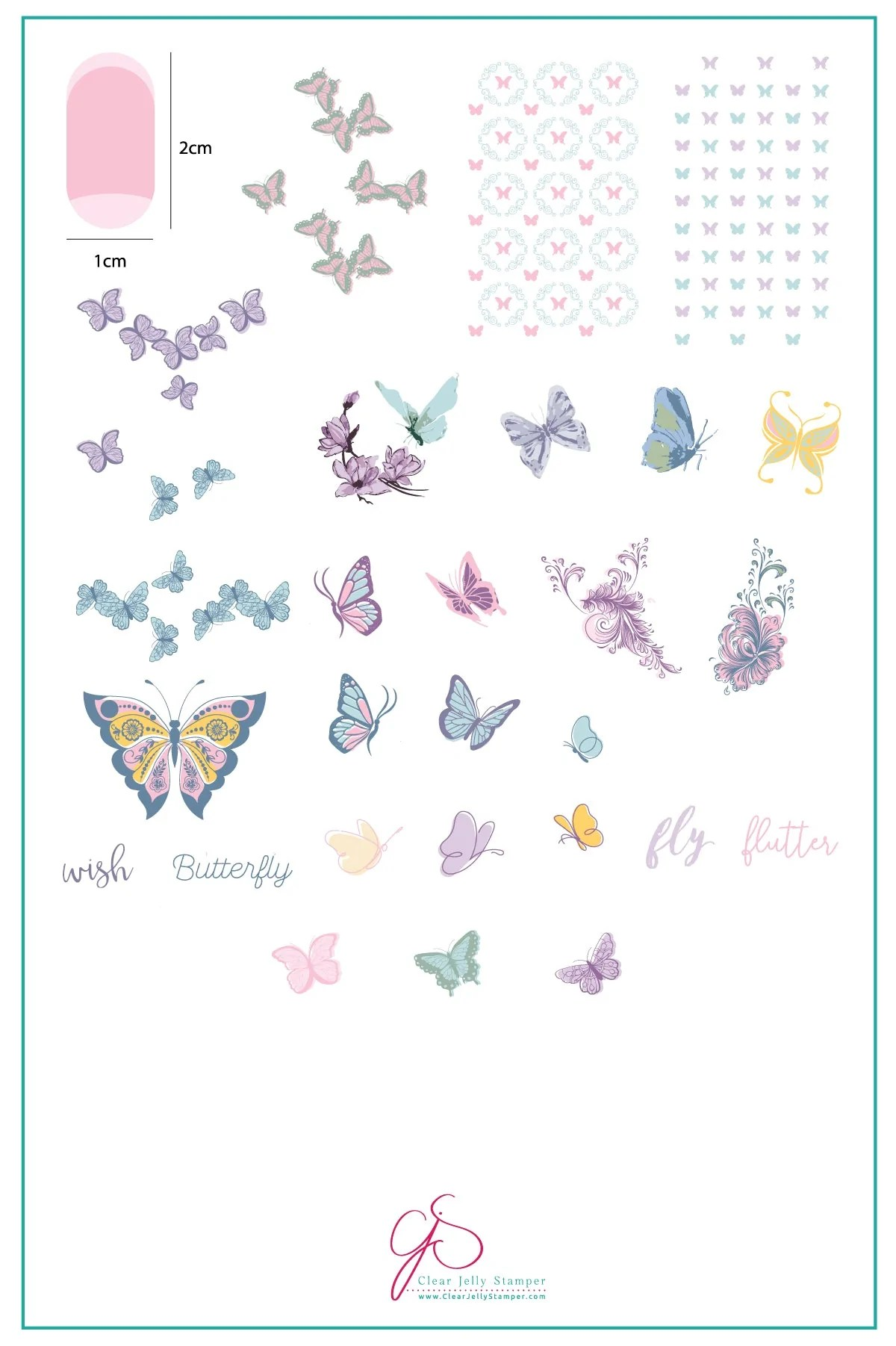 Butterfly Wishes Cjs 80 Steel Stamping Plate Clear Jelly Stamper