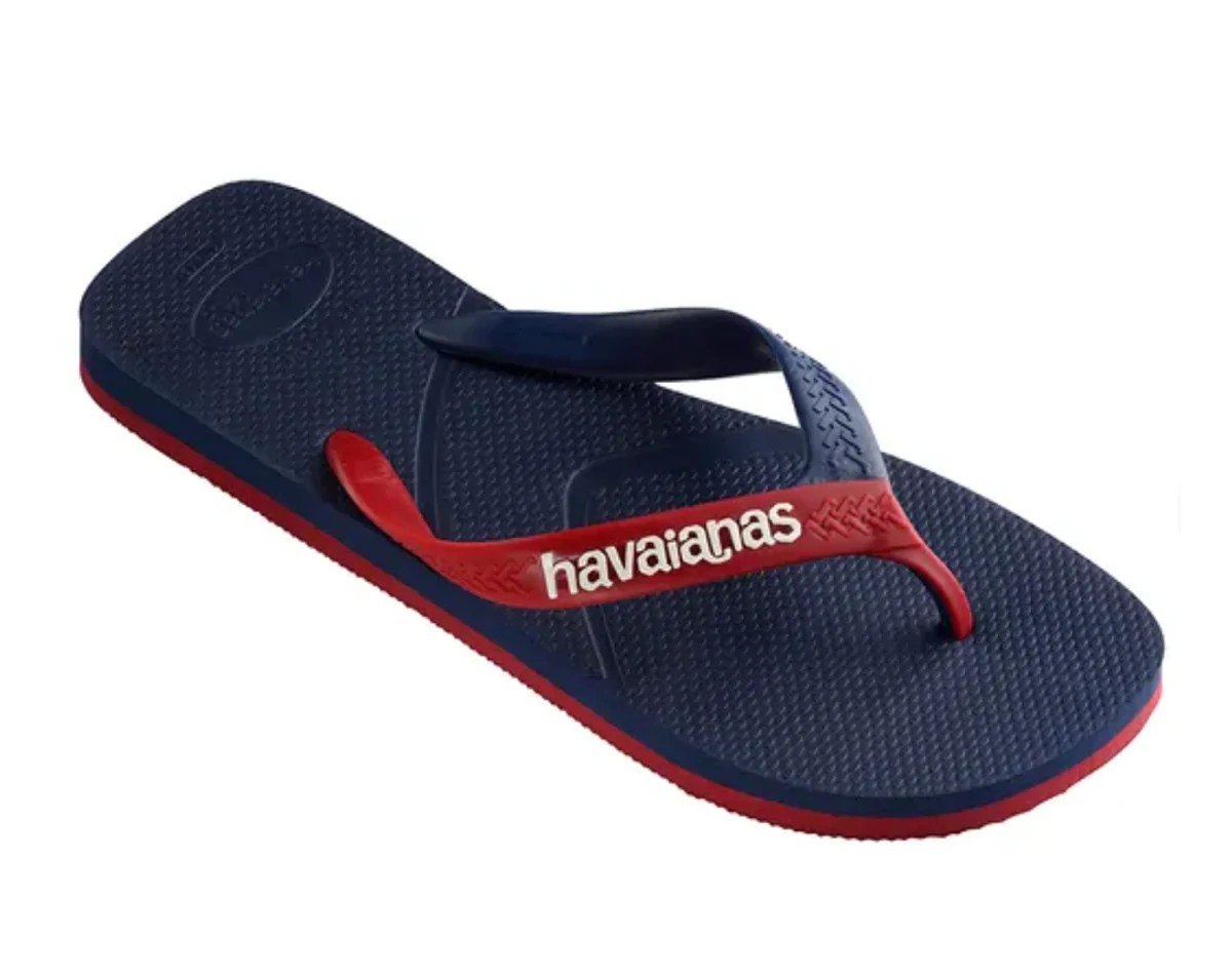 Red 1.com Havaianas Casual Sandals For Men Navy Blue Red