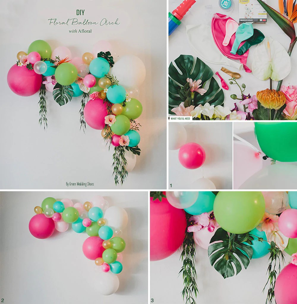 Protea Flower Logo Floral Balloon Arch | Diy Floral Designs At Afloral.com