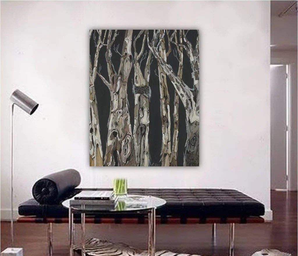 Oversized Modern Wall Art Extra Large Wall Art Black And White Modern Masculine Art