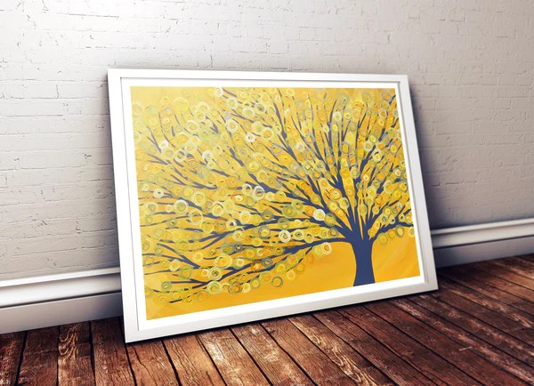 Yellow Wall Art Uk - Elitflat
