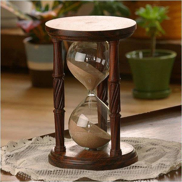 Black And White Quotes Wallpaper Solid Cocobolo Wood Hourglass With Spiral Spindles
