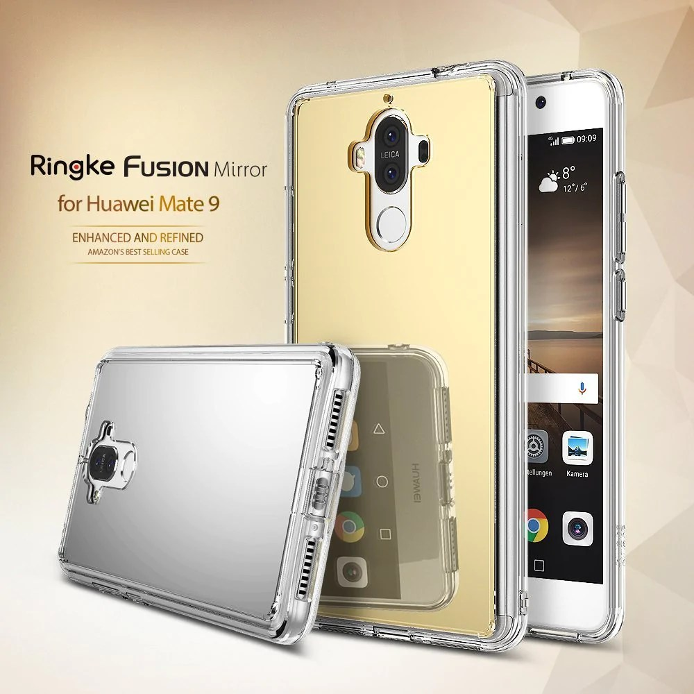 Starke Magnete Amazon Huawei Mate 9 Case Ringke Fusion Mirror Bright Reflection Radiant Luxury Mirror Case