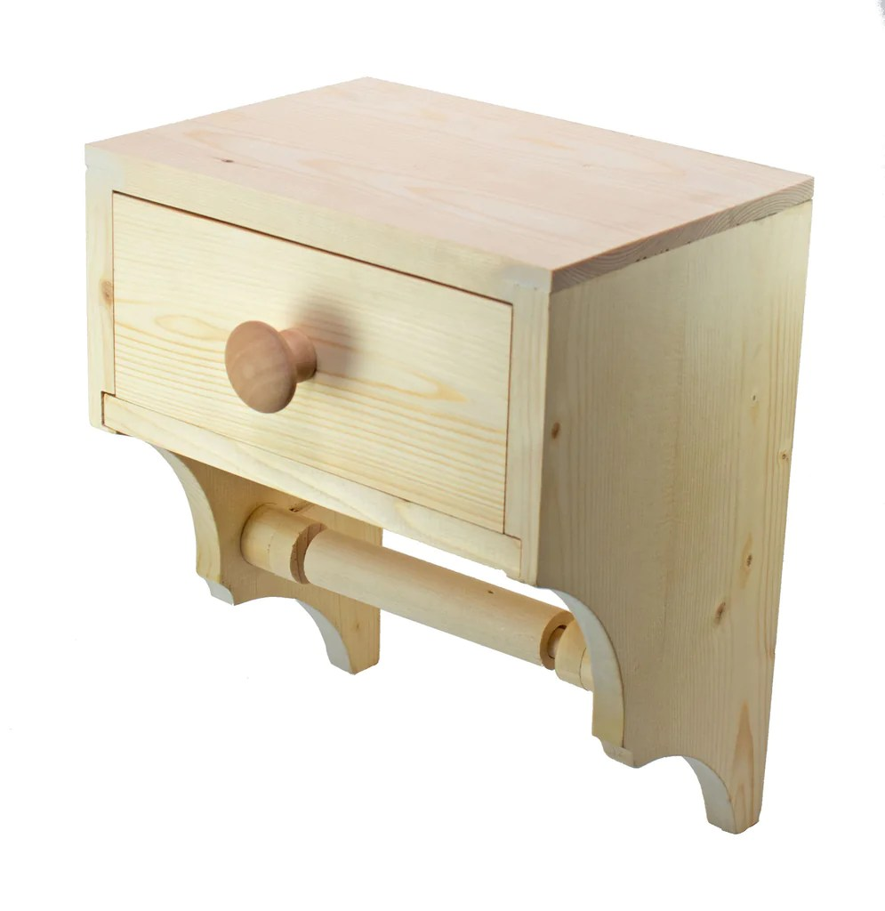 Toilet Paper Holder Unique Toilet Paper Dispenser With Convenience Drawer Bare Wood